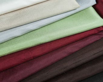 9 Colors-Pure silk Dupion fabric,shantung silk,slight sculpture,solid dupioni silk,Home Decor,Sewing,Skirt,Dress,pillow,Craft by the Yard