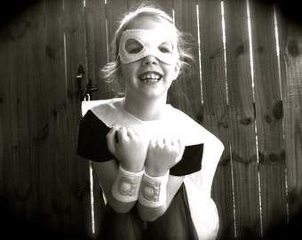 ORGANIC Super Hero Cape - Includes Personalization - Eco Friendly Kid Toys (Mask and Wristbands Sold Separately)