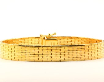 Vintage Italy Milor Gold Tone Link Bracelet 925 Sterling BR 2961