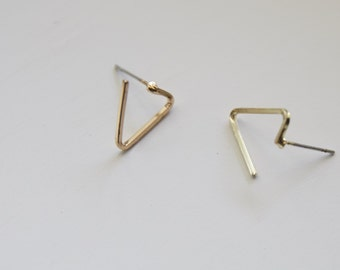 Gold Plated Triangle Earring Studs