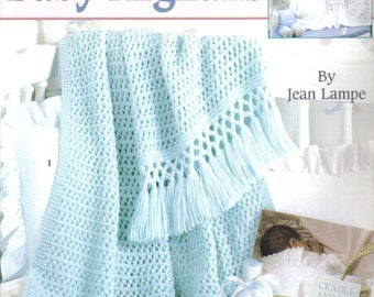 Knit Baby Afghans ~  Knitting Leaflet ~  Leisure Arts ~ NEW