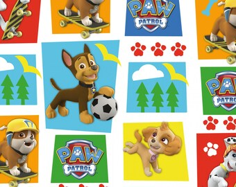Paw Patrol , Rubble and Sky on white,  LAST 22 Inches