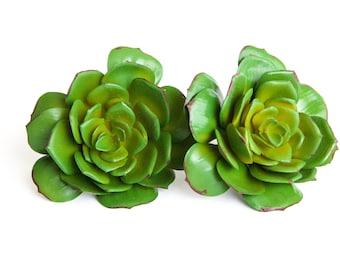 Fake Succulents - Large Artificial Echeveria Succulent in Green - Faux Succulent, artificial succulents - ITEM 033