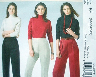 Misses Pants Sizes 16-18-20-22 McCalls Classic Fit - The Perfect Fit Pants Pattern M5239 Learn to Sew Pattern  NEW UNCUT Dated 2006