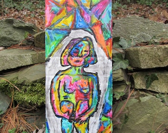 Original Art- Girl with Stained Glass