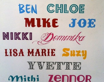Personalised Vinyl Name Decal for walls, windows...