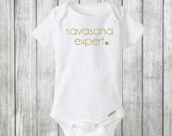 savasana shirt, yoga onesie, baby onesie, fitness shirt, baby girl onesie, baby shower, baby boy onesie, fashion onesie, baby bodysuit