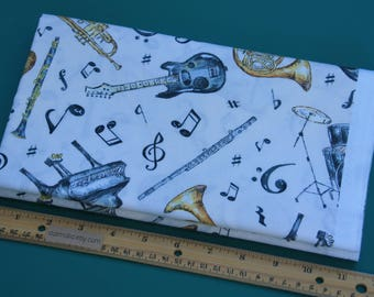 1 Yard Wilmington Prints Play Your Song Ecru Multi Instruments