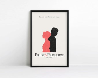 Pride and Prejudice - jane austen gifts - typography print - literary quote - gift for her