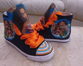 Custom Canvas Shoes Personalised Moana Maui Sneakers Pumps High Tops
