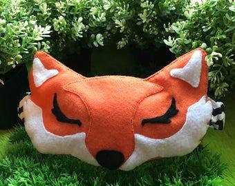 Fox Eye Mask, Fox Sleep Mask