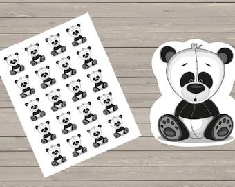 Panda Bear Planner Stickers Fits Erin Condren Life Planner & Other Planners, Cute Stickers, Animal Stickers,
