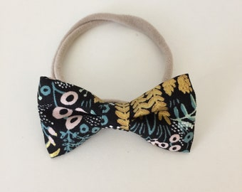 Hair Bow/ Baby Headband with Bow/ Floral Bow/ Toddler Bow/ Fabric Hair Accessory/ One Size Fits All