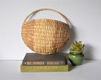 Vintage Basket Wall Basket Planter Basket Vintage Basket Natural Fiber Basket Cottage Chic Coastal Decor