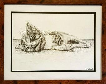 Custom Hand-drawn Cat Portrait