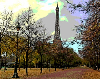 Eiffel Tower in the Fall Art Print
