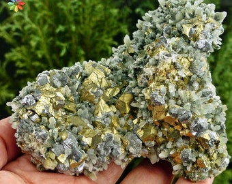 Amazing  Quartz with Chalcopyrite, Galena and Chlorite  Crystal, Mineral, Natural Crystal