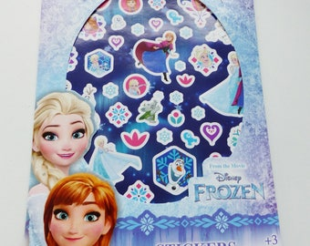 booklet of stickers aproximately 250 stickers 4 sheets of anna and elsa snow Queen