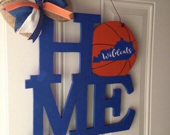 Kentucky wildcats door hanger HOME basketball - Ready to ship!