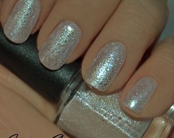 Frozen Fantasy - Frosted White Glitter Nail Polish LIMITED EDITION