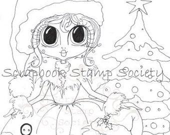 INSTANT DOWNLOAD Digital Digi Stamps Big Eye 441  Besties Big Head Dolls Digi By Sherri Baldy