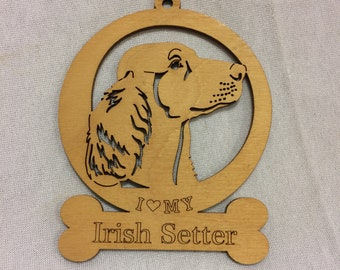 Irish Setter Dog Ornament