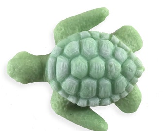 Hand-sculpted Sea Turtle Soap || Decorative Nautical Bathroom Decor || Simple, All Natural Ingredients || Housewarming Gift || Kids Soap Toy