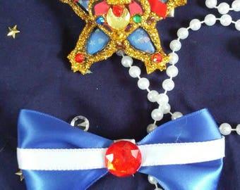 Sailor moon/kingdom hearts hair clip set