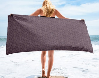 Fuck Deco Swirls: Beach Towel