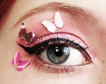Anime Cosplay Costume Butterfly Wing Costume Accessory Prom Accessories Pink Eyeshadow Palette Decals Body Art