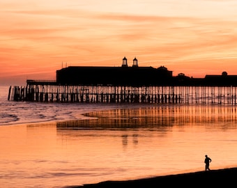 Hastings Pier at Sunset, before the Fire of 2011.