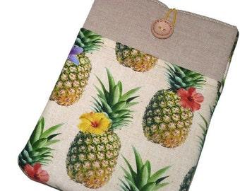 Samsung Galaxy Tab E 9.6 Sleeve, Tab S2 8.0 case, Galaxy Tab 4 10.1 sleeve, Padded  Samsung Tab S2 9.7 case pineapple Pocket Custom Size