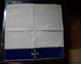 antique textile religious with cross