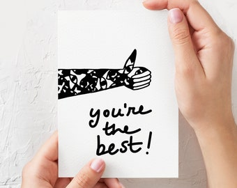 You're the best - Illustrated Greeting Card