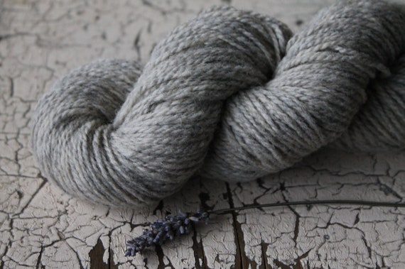 2 ply Natural Grey 100% non super wash - DK to Light Worsted - 200 yards 100 grams