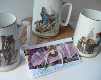 Coffee Mug, Nautical Mug. Vintage Mugs, Norman Rockwell, Anniversary Gift, Gift For Men, Ships Mug, Nautical Decor, Boyfriend Gift