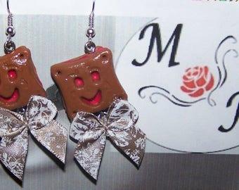 Earrings mini bn Strawberry cakes