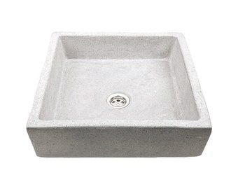 Concrete Sink UB9, overtop washbasin, unusual washstand
