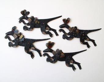 Running Herbivore Dinosaur / Paper Doll Articulated / Hinged Beasts Series