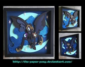 12x12 Nightmare Moon Shadowbox