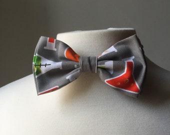 Science Beaker Bow tie, Mens bowtie