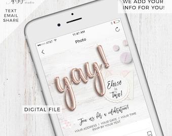 Custom Digital Child's Birthday Party invitation, digital save the date e-card, evite invitation, text invite