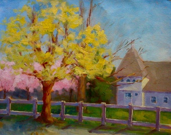 Plein Aire Painting  • Original Art • Oil Paintings • Daily Painters • Daily Painting • South Hampton • Church