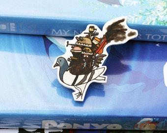 Studio Pidgli Pigeon Parody Illustration Brooch - Howl's Moving Castle