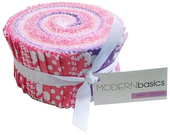 """JELLY ROLL - Bloom Modern Basics Jelly Roll from Michael Miller - 45 pieces 2.5""""x44"""""""