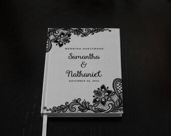 Personalized Lace Wedding Guest Book,  Custom Wedding Guestbook, Custom Designed Wedding Guest Book, Wedding gift, Wedding Keepsake