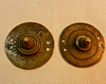 Vintage  Ethiopian Oromo Brass Disk Shield Ornaments
