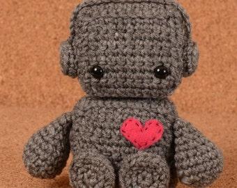 Boltz the Robot Crochet Toy Doll