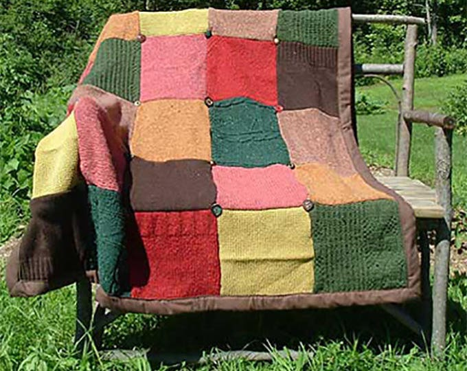 """My """"Walk in the Woods"""" Wool Sweater Quilt — I can make one similar for you!"""