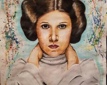 Original Painting of Princess Leia